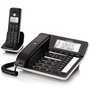 摩托罗拉 数字无绳录音电话机中文显示子机家用办公座机C7001C一拖一子母机(黑色)