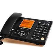 TCL HCD868(88)TSD SD卡 录音插卡电话机大屏幕显示智能背光家用办公座机 (黑色)