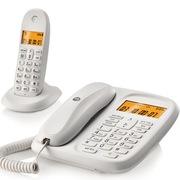 摩托罗拉 CL101C 数字无绳电话机中文显示通话静音家用电话子母机(白色)