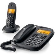 摩托罗拉 CL101C 数字无绳电话机中文显示通话静音家用电话子母机(黑色)