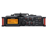 TASCAM DR-70D 单反相机微电影录音机 4音轨线性PCM录音 4个XLR卡侬话筒接口 全中文菜单 96K 24bit录音