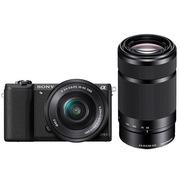 索尼 ILCE-5100 双镜头微单套机 黑色(16-50mm+55-210mm双镜头全焦段 a5100/α5100)