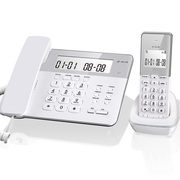 步步高 W201 数字无绳电话机 子母机 一拖一 家用办公 座机 固定电话(晶莹白)