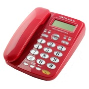 宝泰尔 电话机座机固定电话办公电话免电池来电显示T121红色
