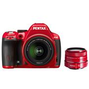 宾得  K-50 18-55mm WR 套机(红)+DA 35mm F2.4(红)镜头 套装