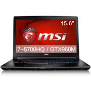 微星 GE62 2QD-647XCN 15.6英寸游戏笔记本电脑(i7-5700HQ 8G 128G+1T GTX960M GDDR5 多彩背光)黑色