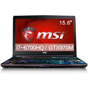 微星  GE62 6QF-057XCN 15.6英寸游戏本电脑(i7-6700HQ 16G 128SSD+1T GTX970M 多彩背光)风暴英雄特饰