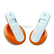 摩托罗拉 C602C 数字无绳电话机屏幕背光中文按键家用办公子母机套机(橙色)