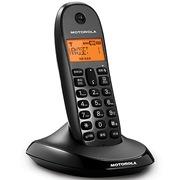 摩托罗拉 C1001OC 数字无绳电话机橙色背光中文显示家用办公座机单机(黑色)