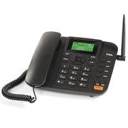 TCL GF100 GSM固定无线插卡电话机中文菜单中文输入家用办公移动固话座机(黑色)
