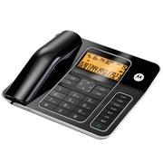 摩托罗拉 CT340C 免提通话免打扰高级办公家用来电显示电话机座机 (黑色)