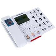 中诺  C219 大按键/来电报号/亲情号码电话机座机办公/家用座机电话/固定电话座机 白色