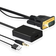 弗吉凯柏(cabos)  F029  高清VGA转HDMI线 转换器 电脑连接电视 投影仪转换器