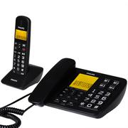 飞利浦 DCTG152 数字无绳电话机 大屏幕大按键老人电话 办公家用来电显示无线子母机(黑色)