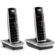摩托罗拉 D502C 数字无绳电话机屏幕背光中文按键家用办公电话座机 (黑色)