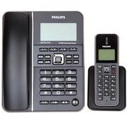 飞利浦 DCTG272 无绳电话机 来电显示/子母机/商务办公/家用座机/一拖一套装 (黑色)