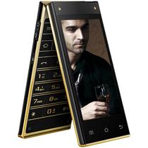 波导 V90 移动4G智能翻盖手机 双卡双待 金黑色产品图片主图