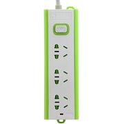 清华同方 TF-503(xc) 铜芯一体式炫彩三位1.8米插座/插排/插线板 绿色