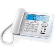 步步高 HCD172 有绳电话机 免电池座机 时尚透明玻璃造型 蓝色夜光 家用办公 来电显示