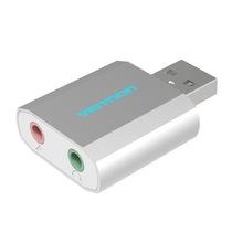 威迅(VENTION) VAB-S13 USB外置声卡免驱台式机电脑笔记本独立耳机转换器有线接话筒产品图片主图