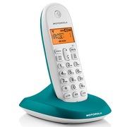 摩托罗拉 C1001OC 数字无绳电话机橙色背光中文显示家用办公座机单机(蓝色)