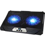 超频三 自由人 支架式笔记本散热器(LED蓝光/9档支撑/360度旋转)
