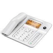 摩托罗拉 CT340C 免提通话免打扰高级办公家用来电显示电话机座机 (白色)