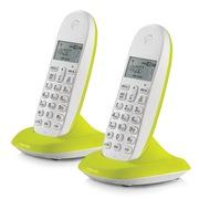 摩托罗拉 C1002XC 数字无绳电话机环保节能电话机 (青柠檬)