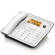 摩托罗拉 CT330C 来电显示有绳电话机橙色背光免提通话免电池家用办公座机 (白色)
