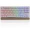 黑爵 AK47MKII 87键幻彩机械键盘 青轴白色产品图片1