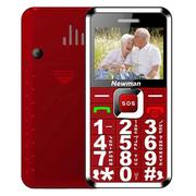 纽曼  L66 移动/联通2G老人手机 红色