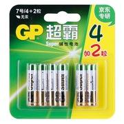 超霸 碱性7号电池 4+2粒卡(京东专研)24A-2IL4/2