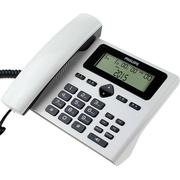 飞利浦 CORD022 来电显示电话机 免电池座机 办公家用 时尚之选(白色)