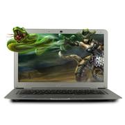 戴睿  D17 14英寸 四核 时尚超薄笔记本电脑  学习影音笔记本 炫白银 四核 4G内存 500G硬盘