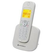 摩托罗拉 D1001C 无绳电话机中文菜单中文显示防尘防水电话机 (白色)