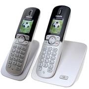 飞利浦 DCTG570 Duo 高档彩屏数字无绳电话机套装 全中文菜单 来电语音报号 按键蓝色背光(白色)
