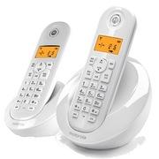 摩托罗拉 C602BC 断电可用数字无绳电话机办公家用电话机 (白色)