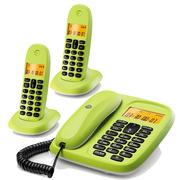 摩托罗拉 CL102C 中文显示数字无绳电话机家用办公数字无绳电话子母机座机(青柠色)