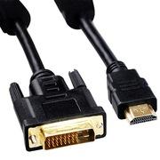 弗吉凯柏(cabos) F004701hdmi转dvi线dvi-d转hdim高清线转换线电脑hdmi转显示器dvi1米 HDMI转DVI+音频套餐