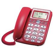 宝泰尔 电话机座机固定电话来电显示大字键大铃声免电池老人电话机T202红色