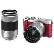 富士  X-A1(16-50mm+50-230mm双镜头) 微型单电套机 红色(1650万像素 3.0英寸翻折屏 Wi-Fi)