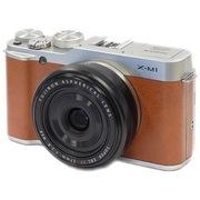 富士  X-M1 (XF 27mm镜头) 微型单电套机 棕色(1600万像素 3.0英寸翻折屏 Wi-Fi功能)