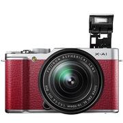 富士  X-A1(XC16-50mm镜头)微型单电套机 红色(1650万像素 3英寸翻折屏 Wi-Fi 功能)