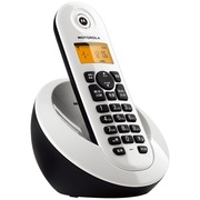 摩托罗拉 C601C 数字无绳电话机屏幕背光中文按键家用办公电话机单机(白色)