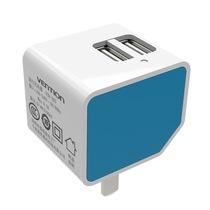威迅(VENTION) VCB-A03 双usb充电器头苹果5/6s智能手机小米平板2多口5V2A快速充电器插头产品图片主图