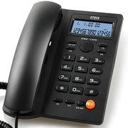 渴望(crave) 金V25 办公电话 预拨号防盗打家用电话 家庭电话 商务电话 黑色