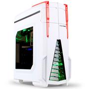 长城 星际战舰 M-10 游戏电脑机箱白色 (水冷/独立风道/分体式/侧透/背线/SSD/顶置USB3.0)