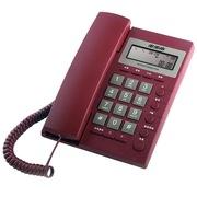 步步高 HCD6082 固定电话机 座机  家用办公 来电显示 磨砂 固话 (大红)
