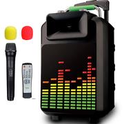 索爱 SA-T22 便携式移动拉杆户外音响 大功率蓝牙电瓶插卡广场舞音箱(黑色)