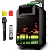 索爱 SA-T22 便携式移动拉杆户外音响 大功率蓝牙电瓶插卡广场舞音箱(黑色)产品图片主图